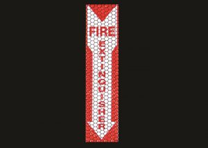 panneau Cyflect Fire extinguisher retro reflechissant photoluminescent