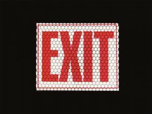 panneau Exit retro reflechissant photoluminescent