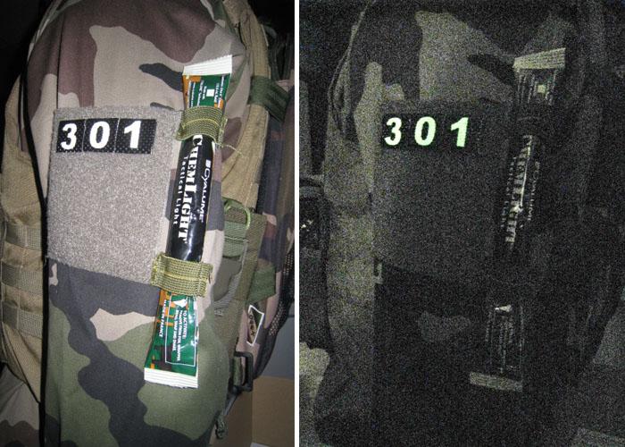 patch chiffre rétro-réfléchissant identification ami ennemi