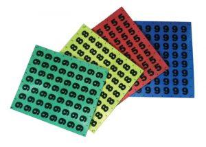 patch d'identification retro reflechissants photoluminescents chiffres et lettres