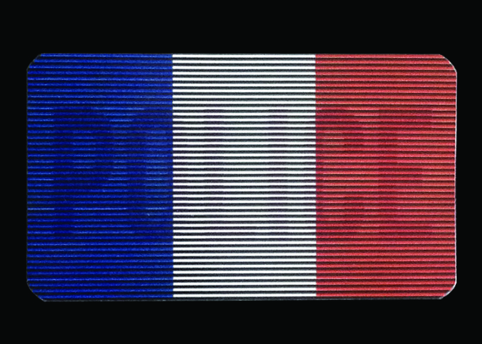 patch dual IR police drapeau france