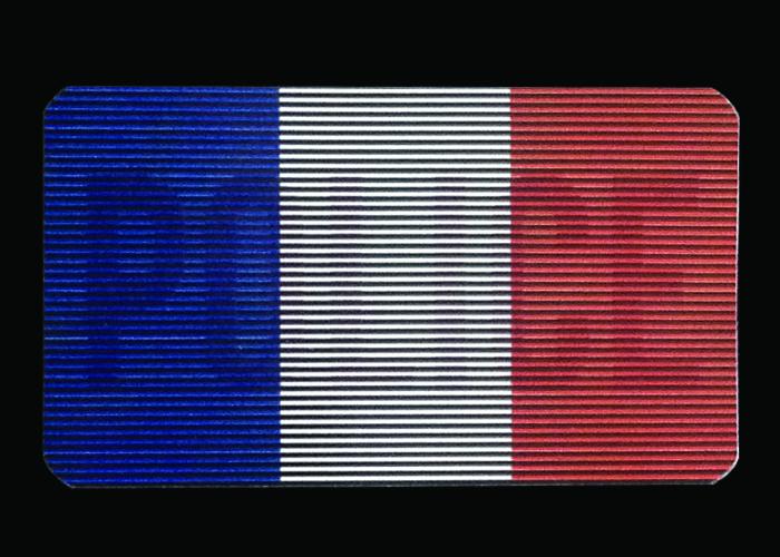 patch dual IR police drapeau france
