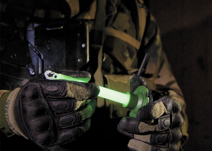 Chemlight Military lightstick from Cyalume as tactical light for defence