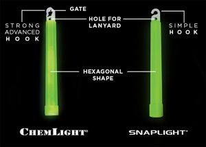 snaplight and chemlight lightstick differencies