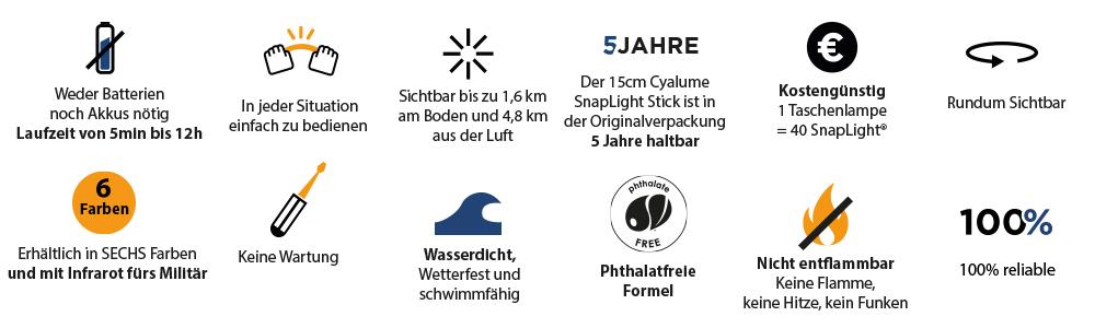 snaplight und chemlight Leuchtstaebe Eigenschaften