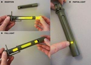 control of the rotating window of the khaki directional screen for light stick