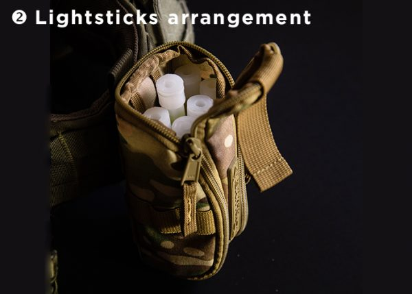 Cyalume lightsticks storage bag holster