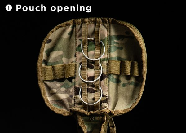Cypouch opening Cyalume holster with metal rings