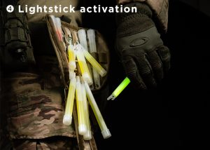 activation of lightstick with gloves