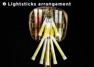 storage of lightsticks in bundle in cypouch holster