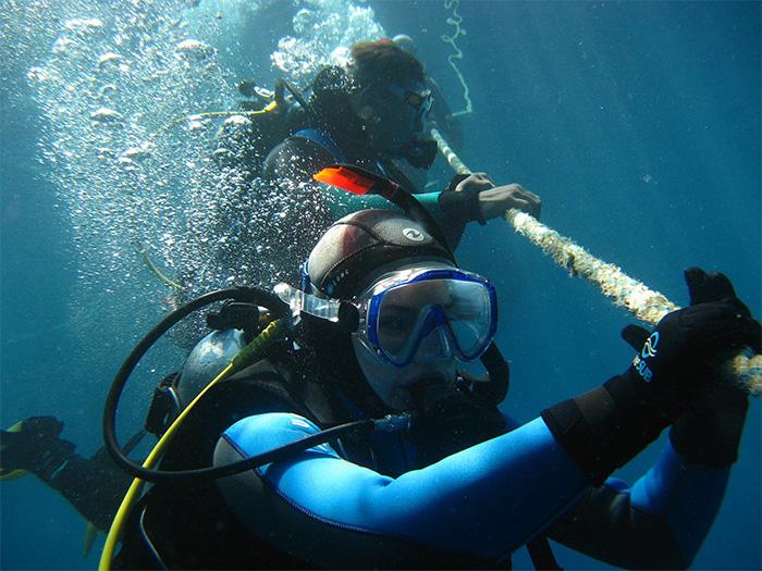 marquage plongeurs professionnels oil gas offshore maintenance