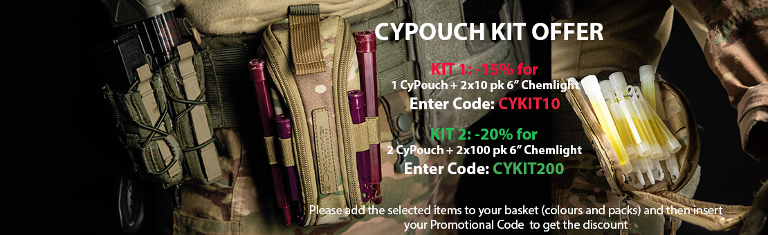 Tactical Cyalume holder CyPouch Kit Offer