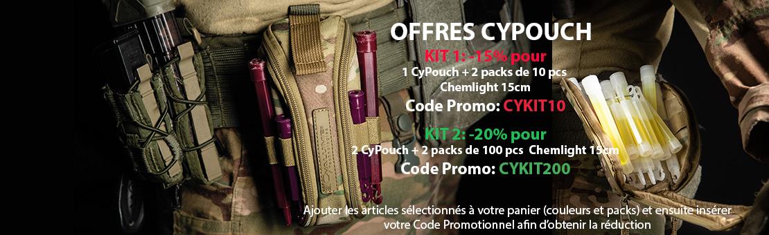 Offre Cyalume kits porte Cyalume tactique Cypouch