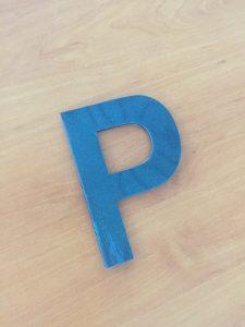 panneau identification thermique lettre P pour véhicule