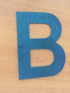 panneau thermique aimante lettre B pour identification vehicule