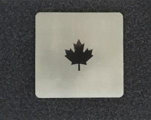 patch carré fusion thermique + IR avec feuille érable en IR