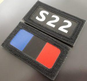 patch infrarouge indicatif appel avec drapeau france